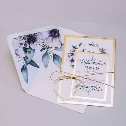 Zaproszenia ślubne Anemony