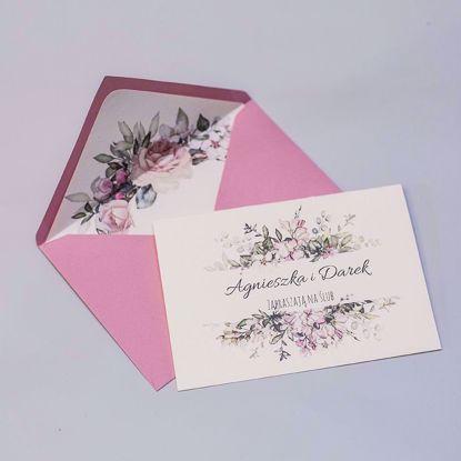Zaproszenie ślubne klasyczne Pastelowe róże