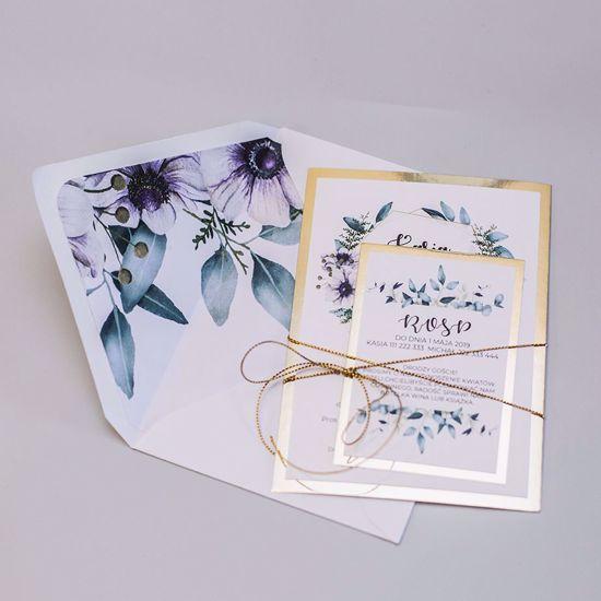 zaproszenia kwiatowe
