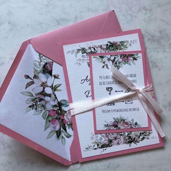 Zaproszenie ślubne Pastelowe róże